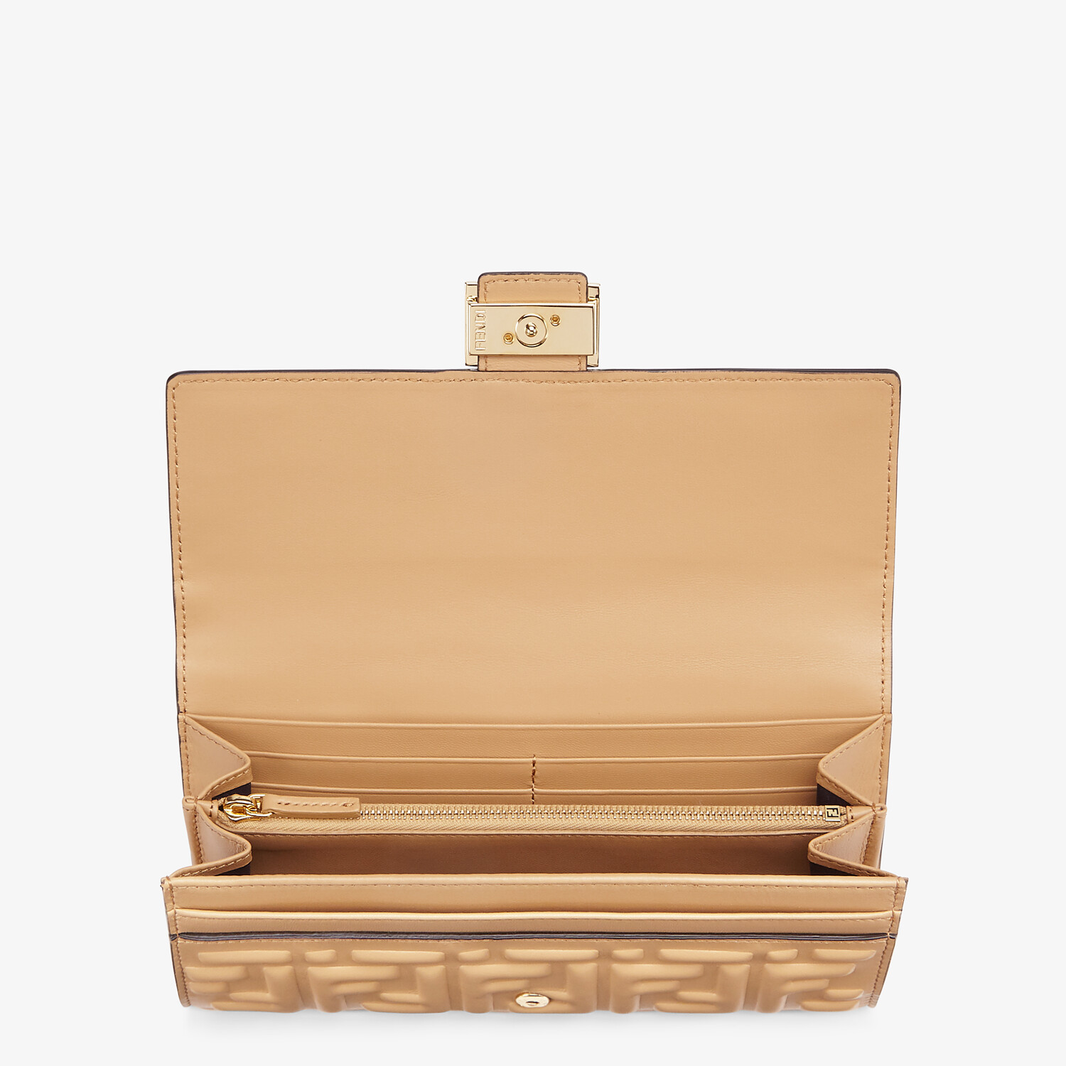 FENDI CONTINENTAL - Beige nappa leather wallet - view 3 detail