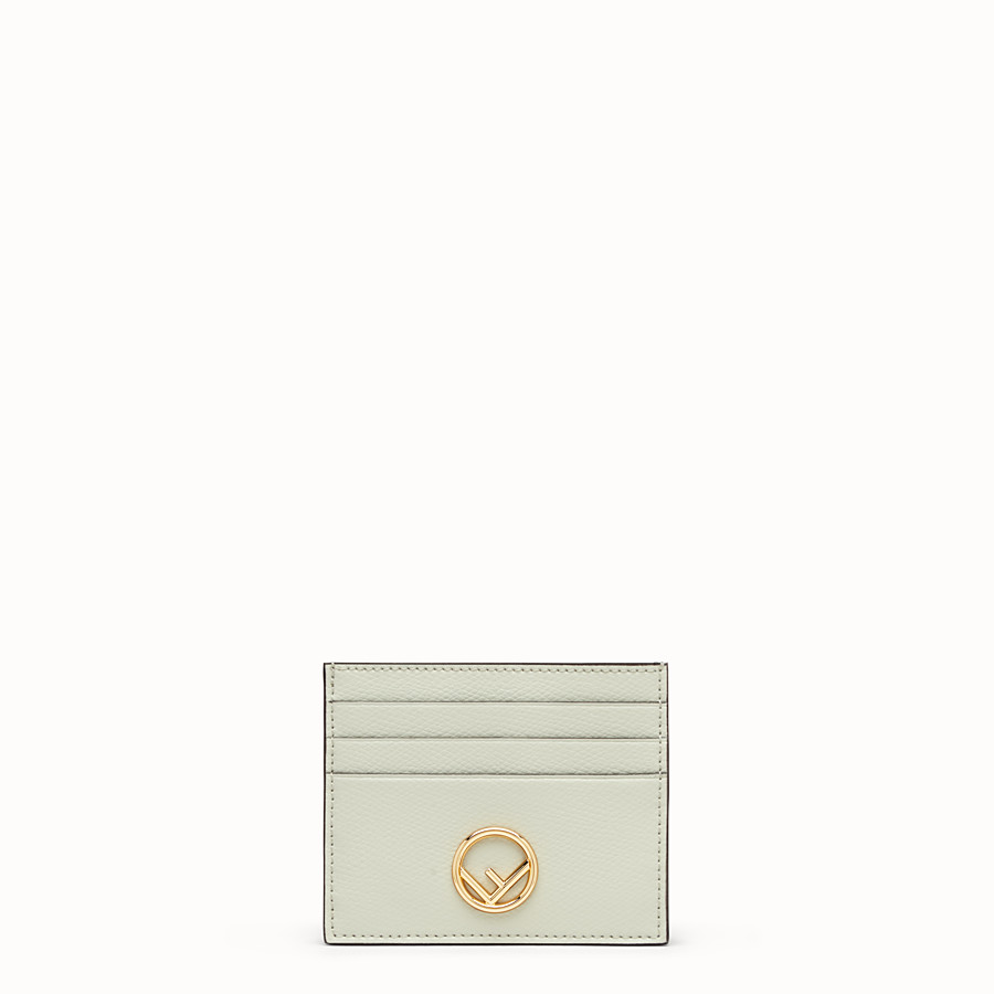FENDI CARD HOLDER - Green leather flat card holder - view 1 detail