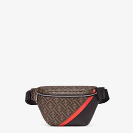 FENDI BELT BAG - Brown fabric belt bag - view 1 thumbnail