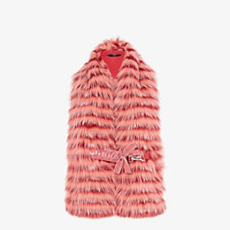 FENDI COLLAR - Pink fox fur collar - view 1 thumbnail