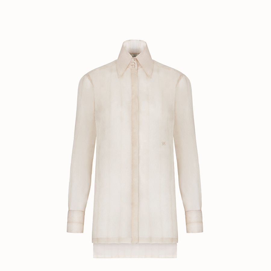 FENDI SHIRT - Beige organza shirt - view 1 detail