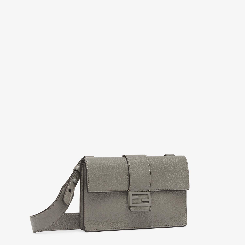 FENDI BAGUETTE POUCH - Gray leather bag - view 2 detail