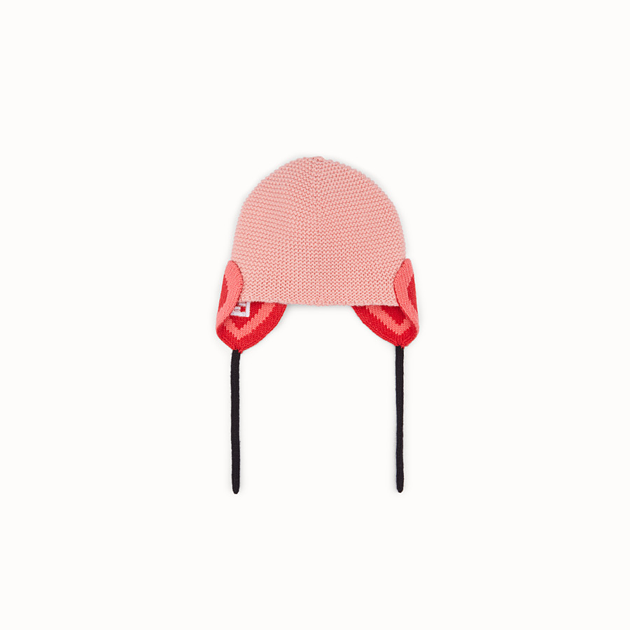 FENDI HAT - Pink wool hat - view 1 detail