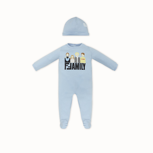 FENDI BABY KIT - Light blue jersey baby kit - view 1 small thumbnail