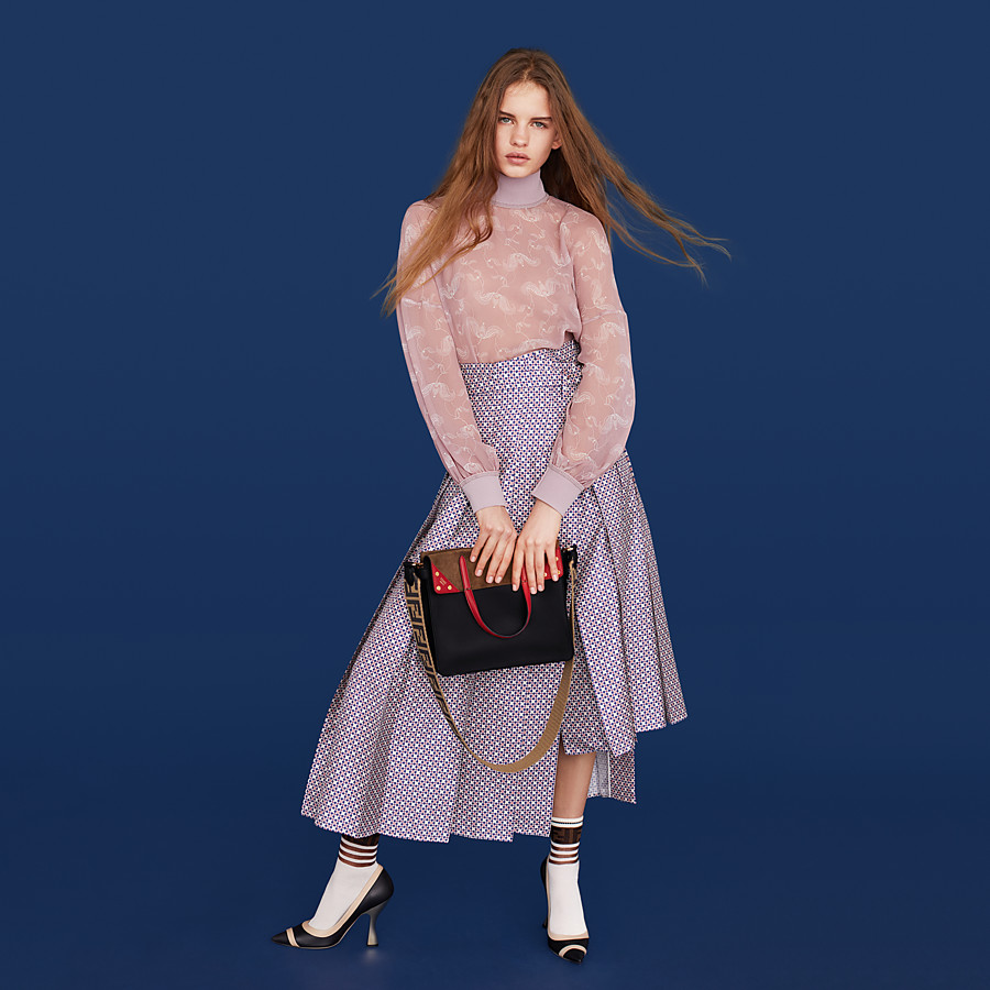 FENDI SKIRT - Pink silk skirt - view 4 detail