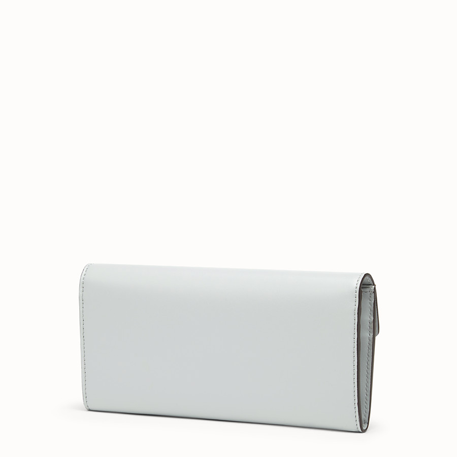 FENDI CONTINENTAL - Gray leather wallet - view 2 detail