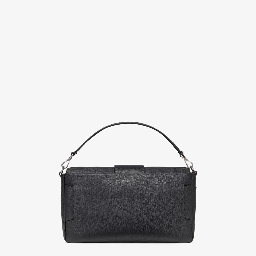 FENDI BAGUETTE LARGE - Black, calf leather bag - view 4 detail