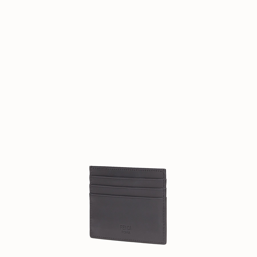 FENDI CARD HOLDER - Six-slot black leather card holder - view 2 detail