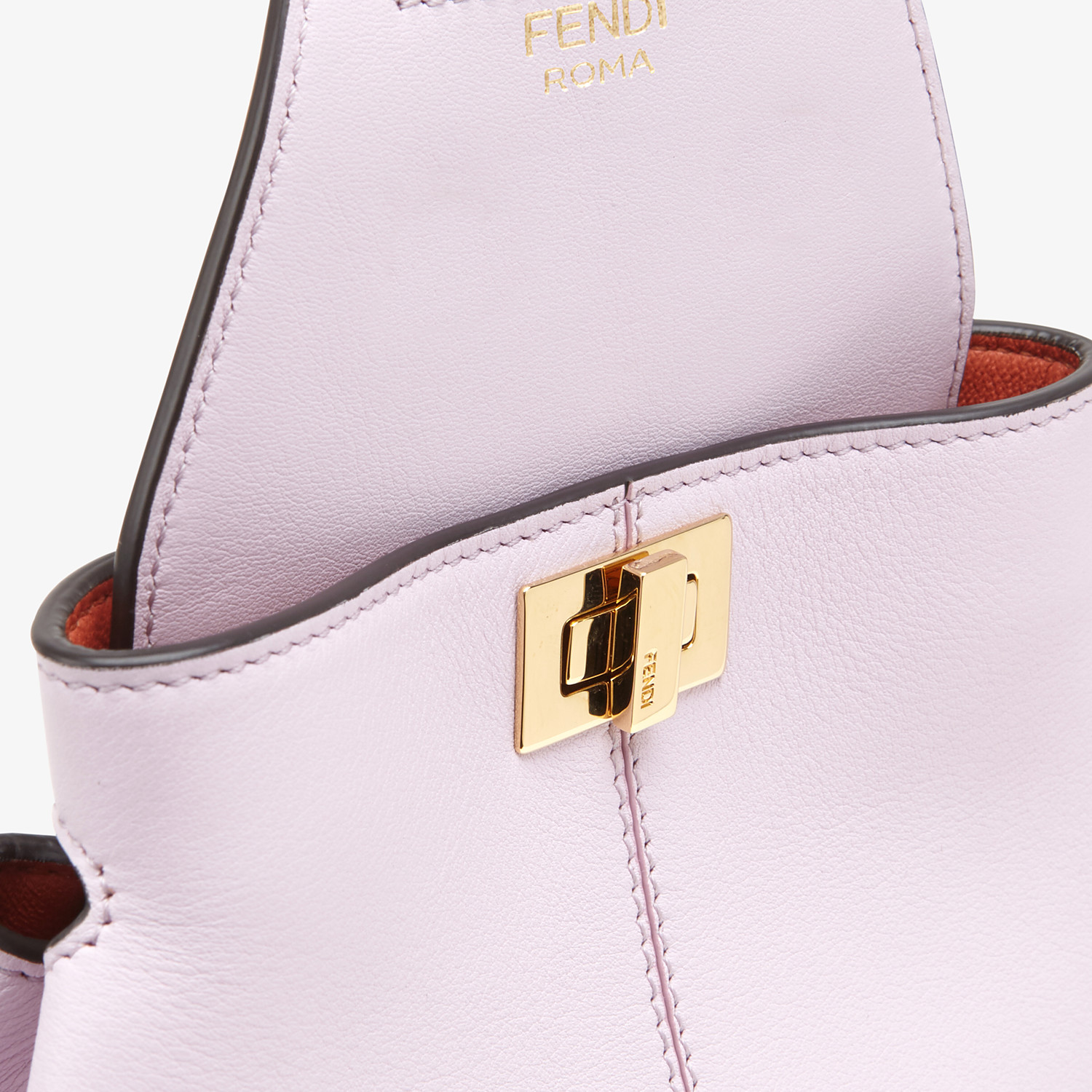 FENDI GUITAR BAG - Lilac leather mini-bag - view 5 detail