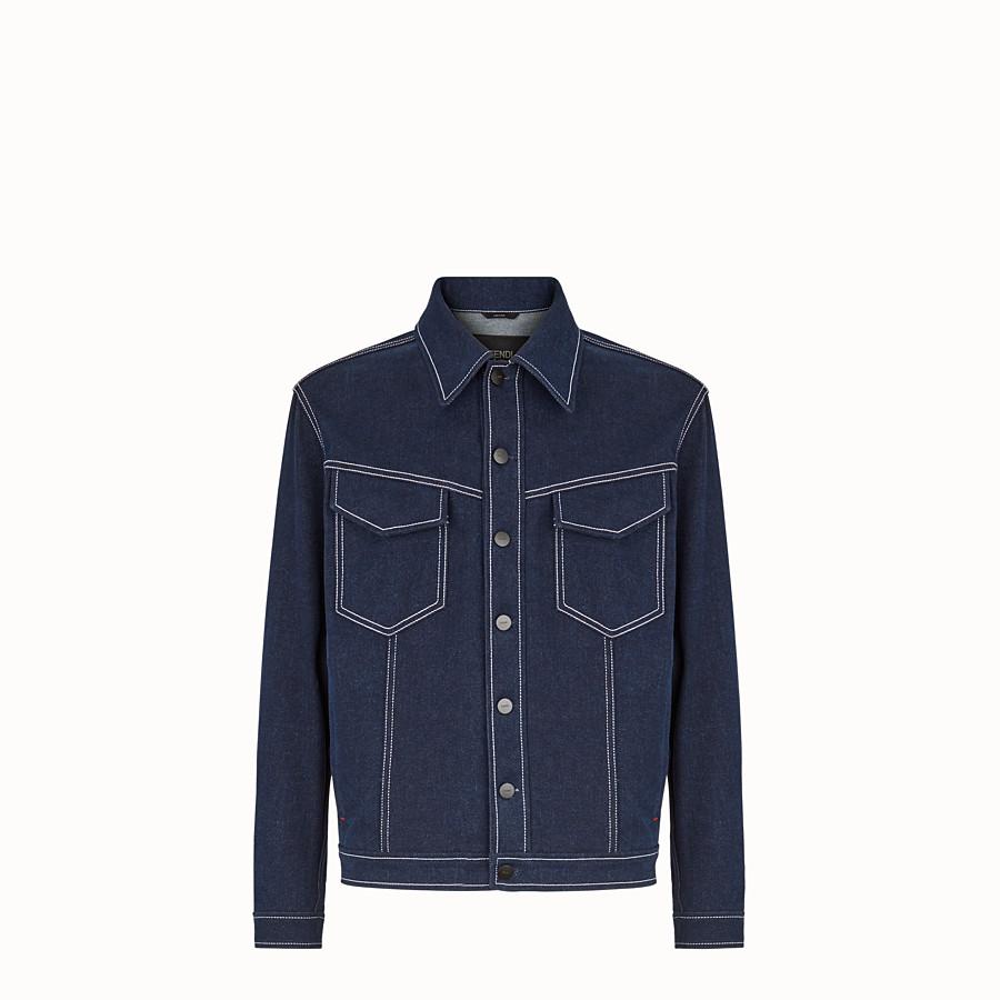 FENDI BLOUSON JACKET - Blue denim jacket - view 1 detail