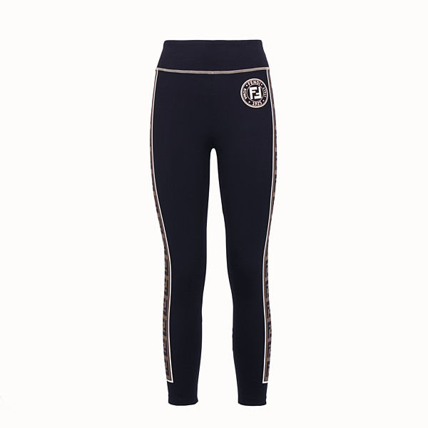 FENDI LEGGINGS - Black tech fabric trousers - view 1 small thumbnail
