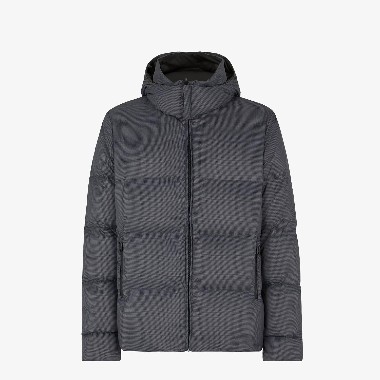 FENDI DOWN JACKET - Gray nylon down jacket - view 1 detail