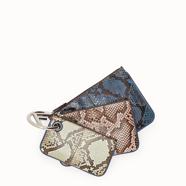 FENDI TRIPLETTE - Multicolour python pouch - view 1 small thumbnail