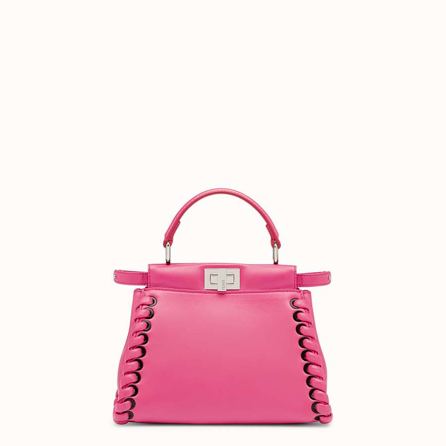 FENDI PEEKABOO MINI - Fuchsia leather bag - view 1 detail
