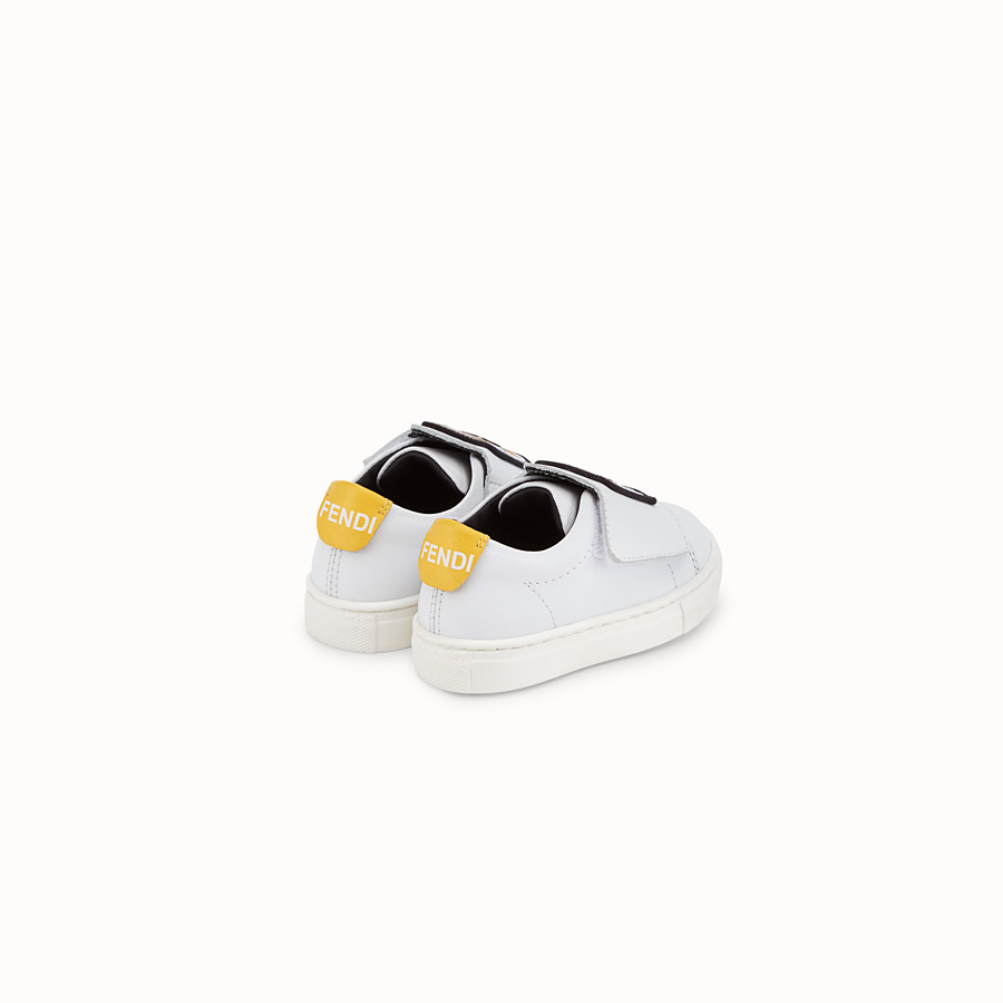 FENDI FIRST-STEPS SNEAKERS - White leather shoes - view 3 detail