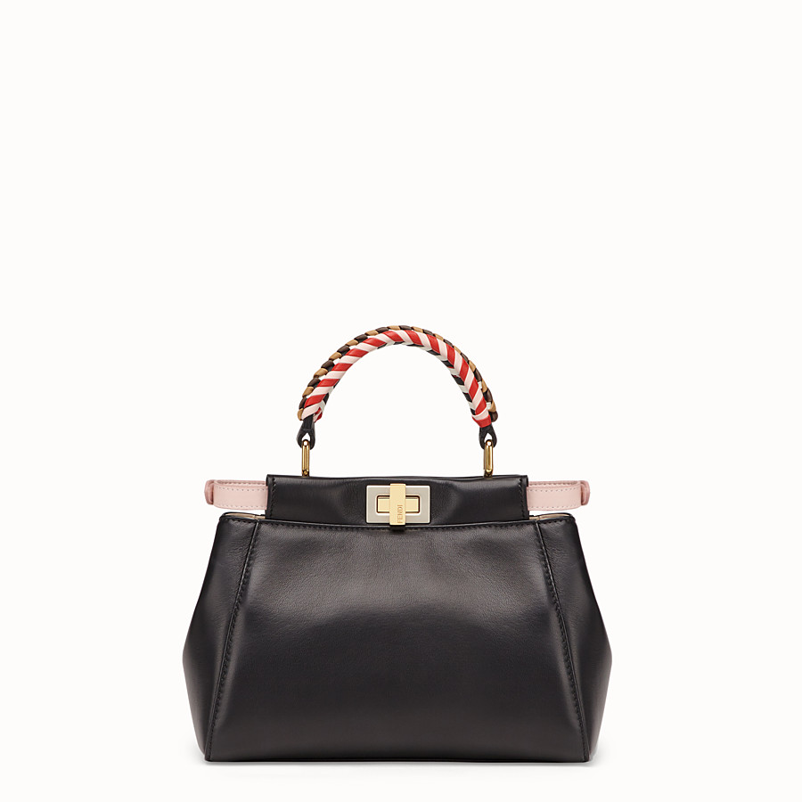 FENDI PEEKABOO MINI - Black nappa leather bag - view 4 detail