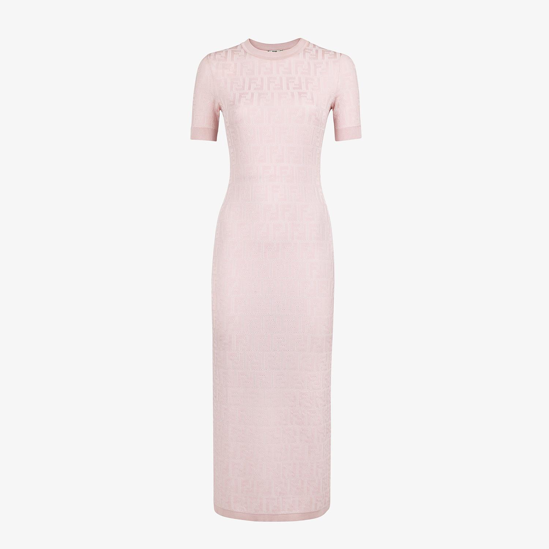 FENDI DRESS - Pink viscose and cotton dress - view 1 detail