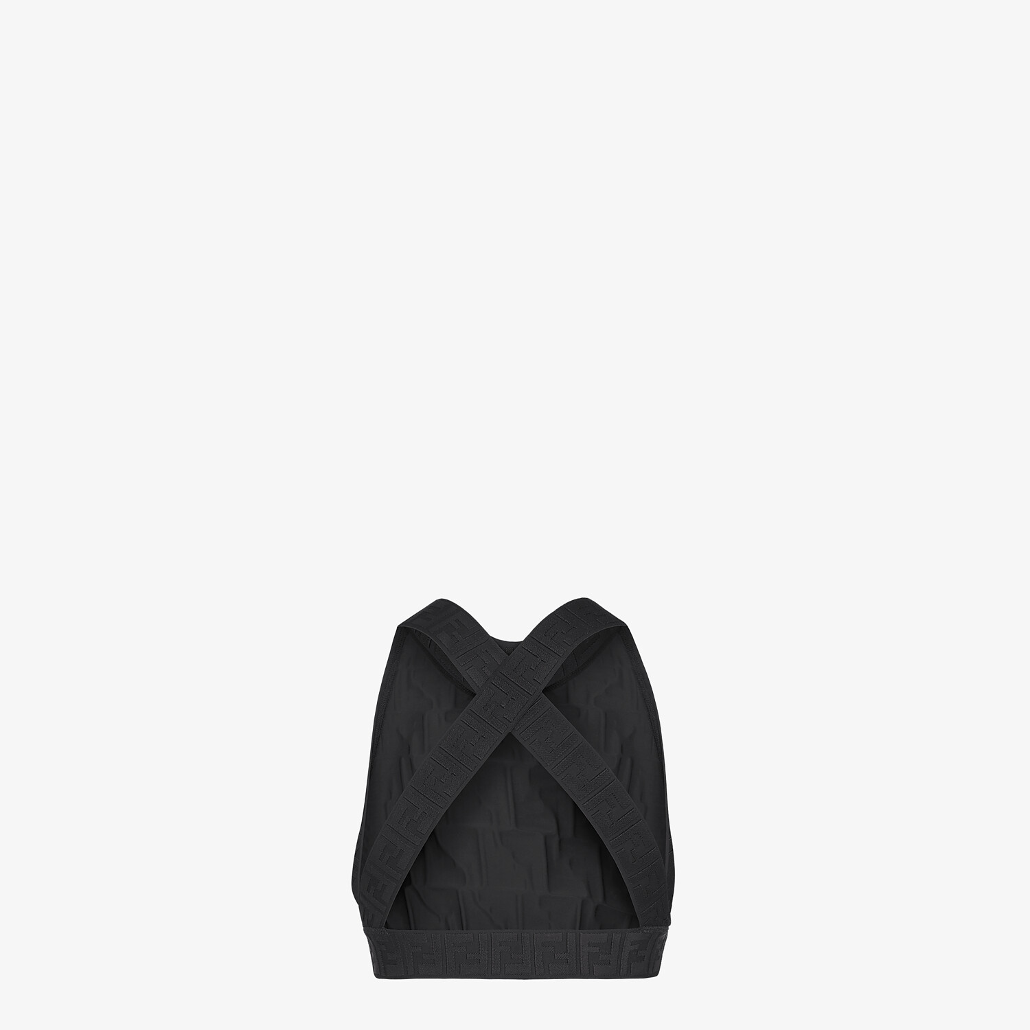 FENDI SPORTS TOP - Black tech fabric top - view 2 detail