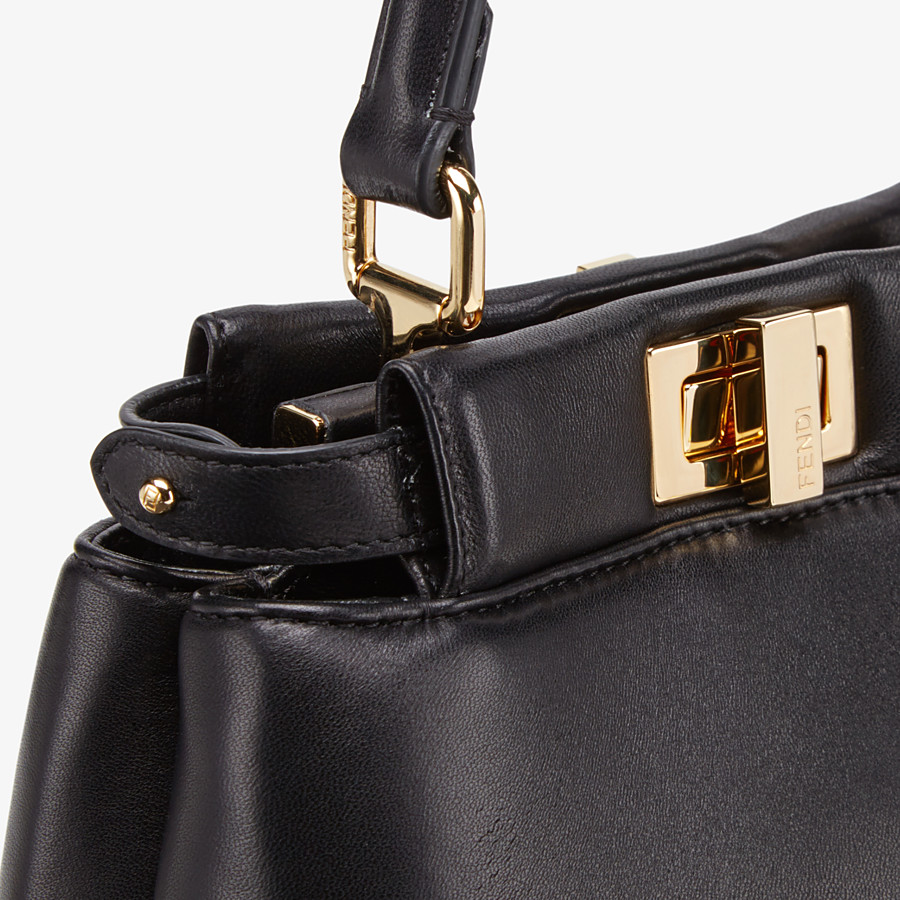 FENDI PEEKABOO ICONIC XS - Black nappa leather bag - view 6 detail