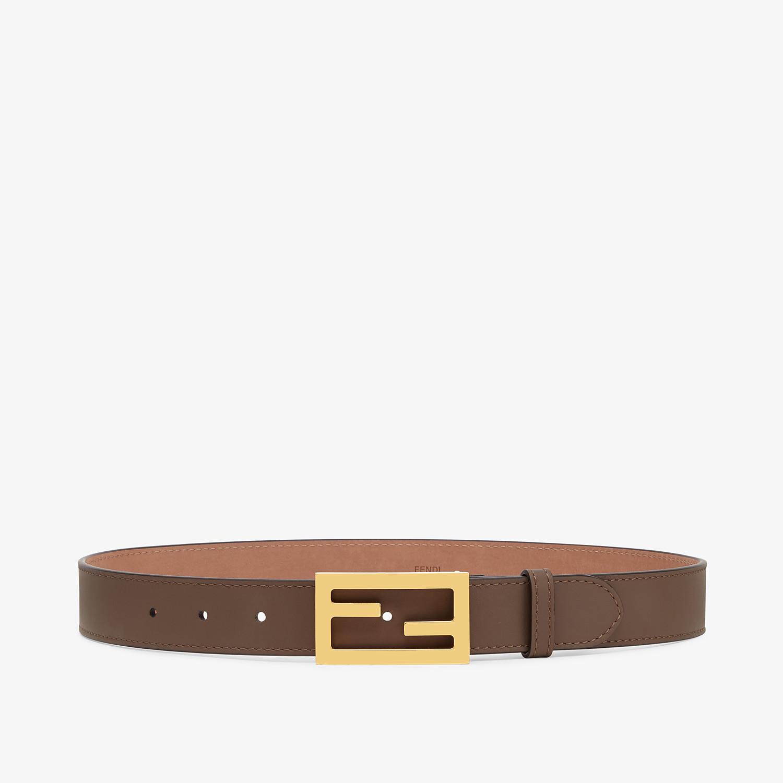 FENDI CINTURA - Cintura in pelle marrone - vista 1 dettaglio
