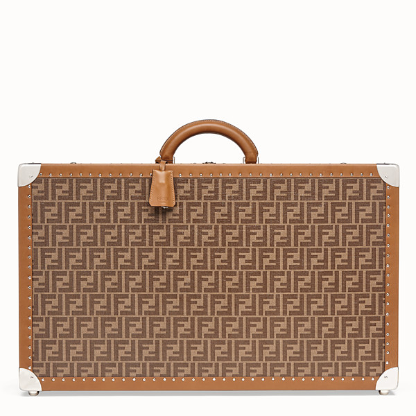 FENDI LARGE TRAVEL BAG - Brown fabric suitcase - view 1 small thumbnail