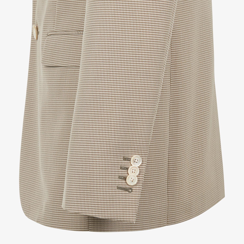 FENDI JACKET - Beige cotton blazer - view 3 detail