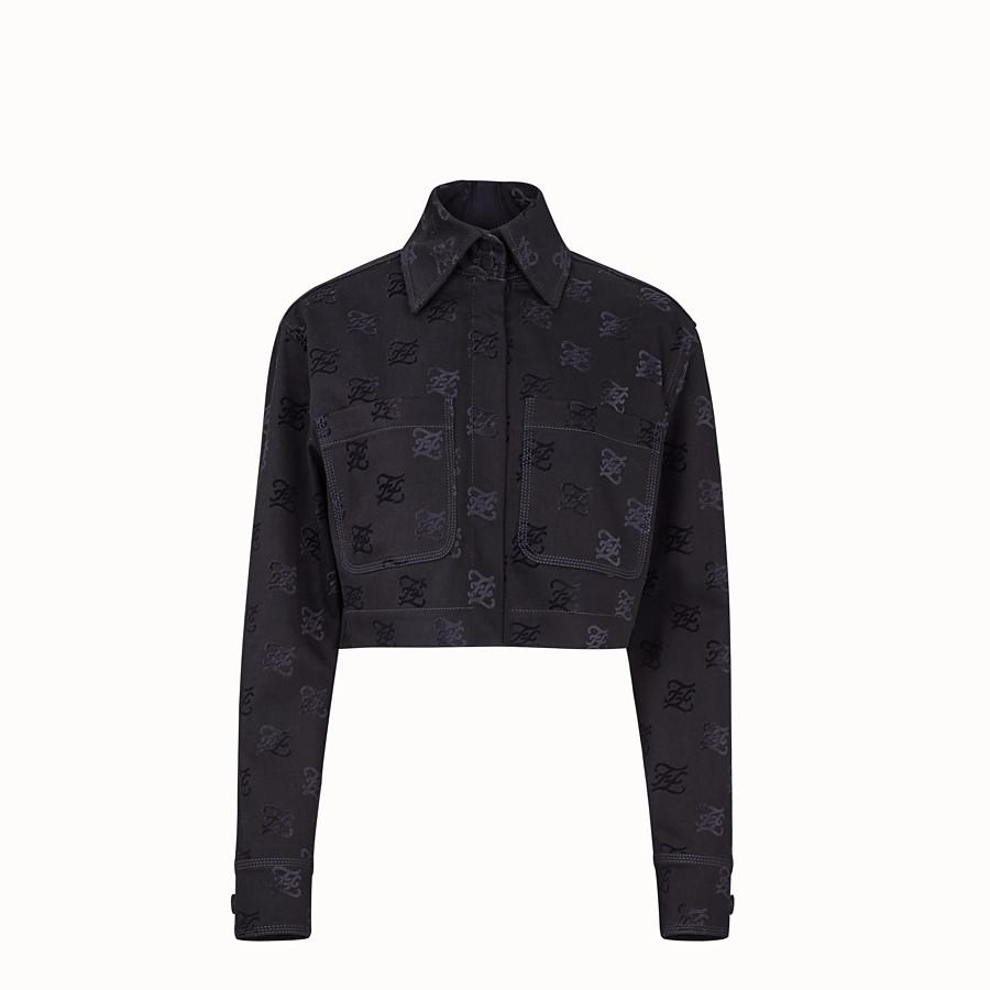 FENDI JACKET - Black denim jacket - view 1 detail