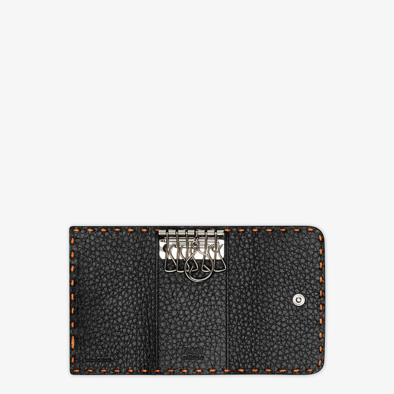FENDI KEY RING - Orange leather pouch - view 3 detail