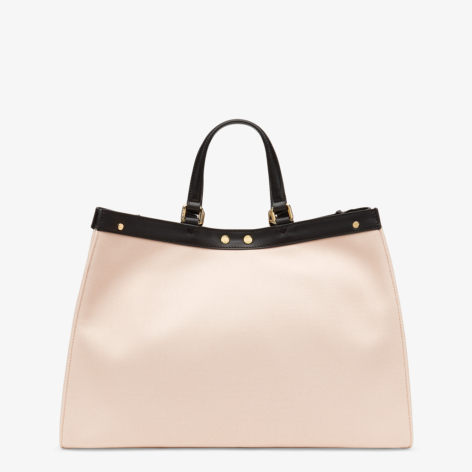 FENDI PEEKABOO X-TOTE - Embroidered pink canvas bag - view 3 detail