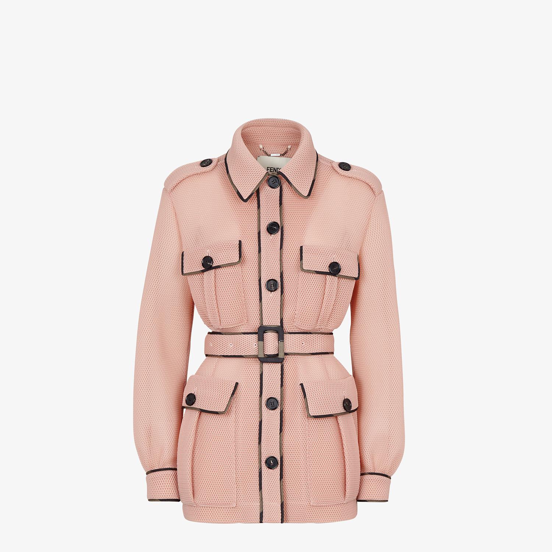 FENDI JACKET - Safari jacket in pink tech mesh - view 1 detail
