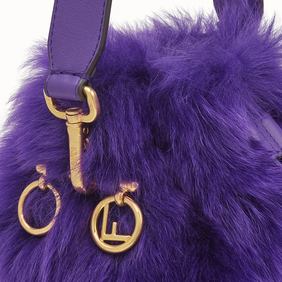 FENDI MON TRESOR - Purple sheepskin mini-bag - view 5 detail