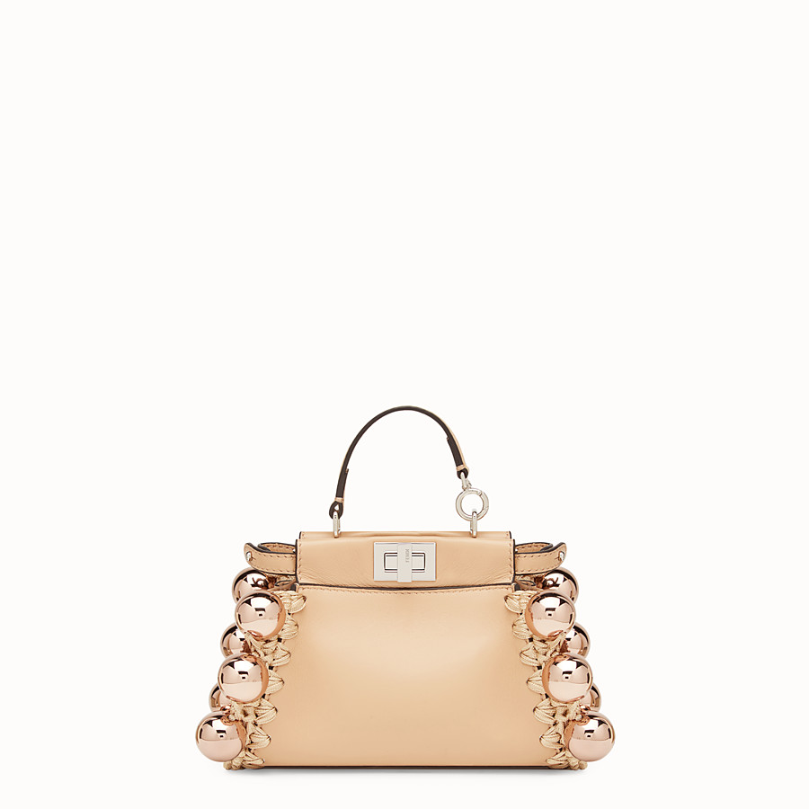 FENDI MICRO PEEKABOO - Pink leather micro-bag - view 1 detail