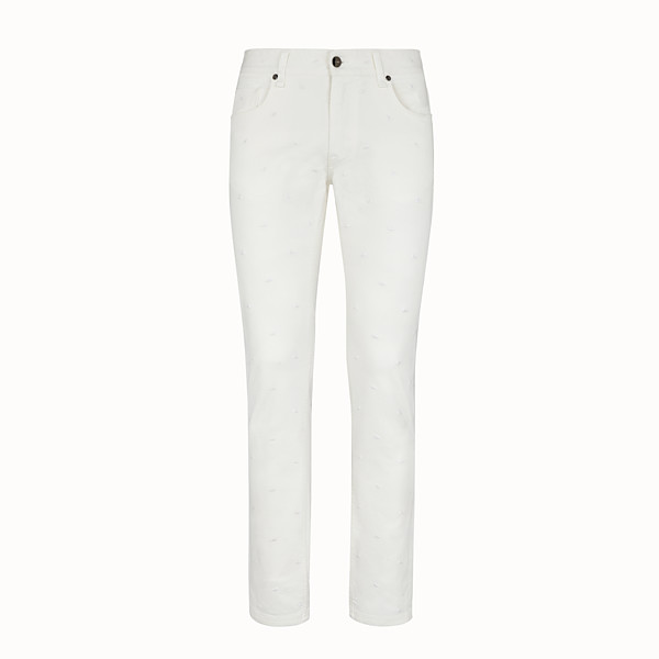 FENDI DENIM - White denim jeans - view 1 small thumbnail