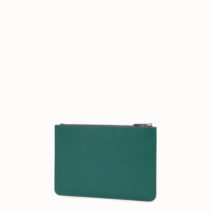 FENDI POUCH - Multicolor leather slim pouch - view 2 detail
