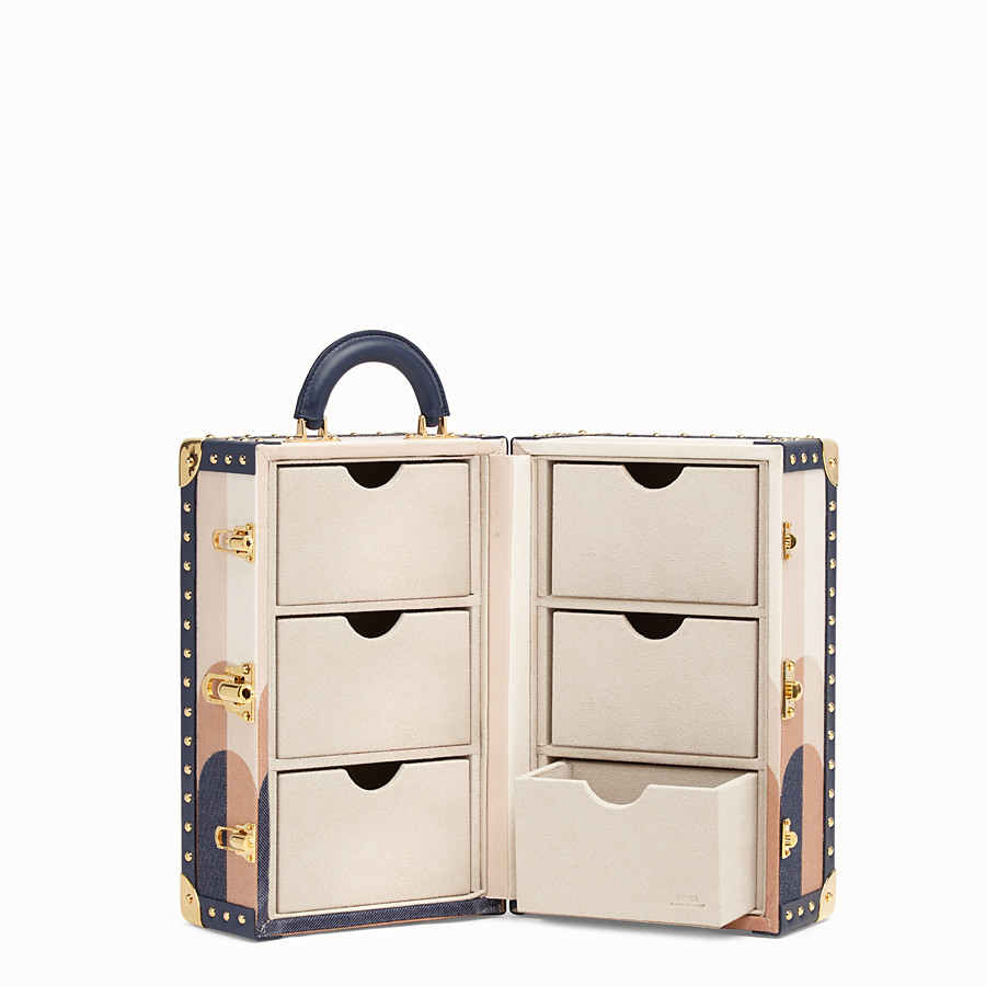 FENDI TRAVEL CASE LARGE - Travel case in multicolor jacquard - view 3 detail