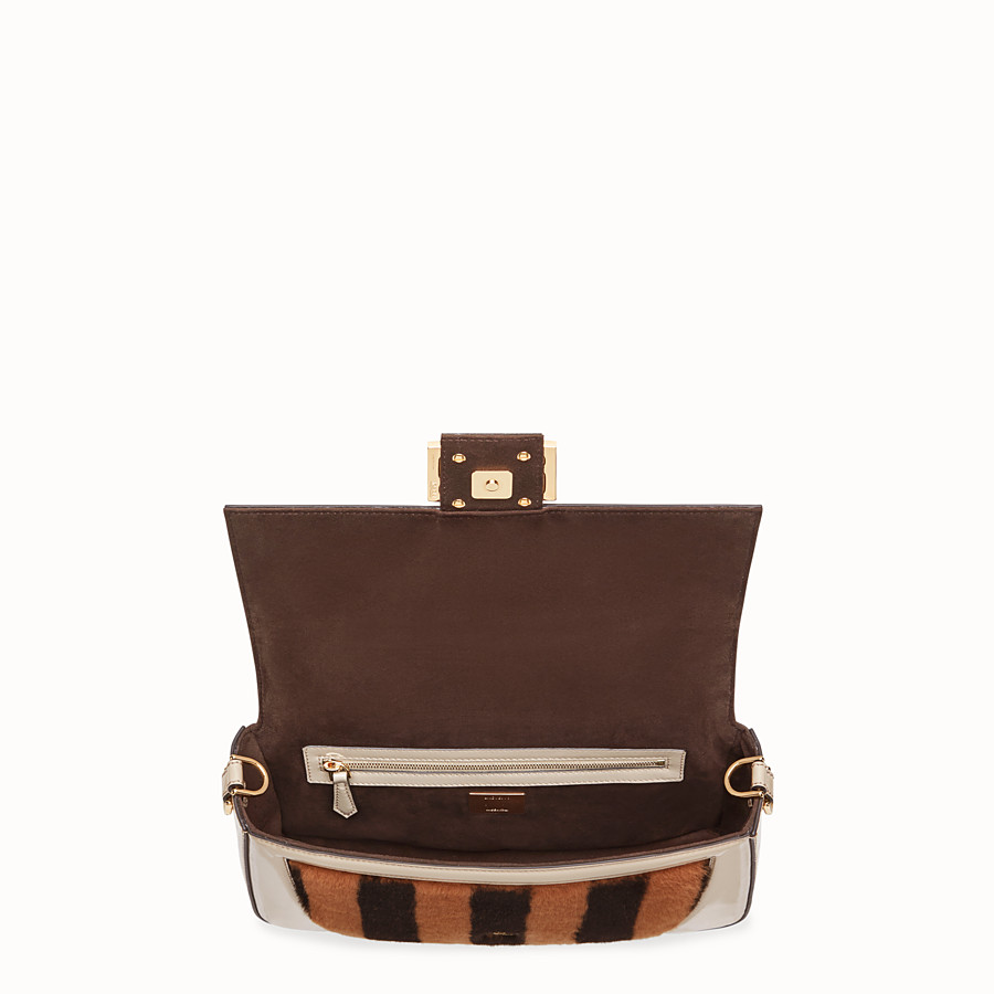 FENDI BAGUETTE - Multicolour, patent leather and sheepskin bag - view 5 detail