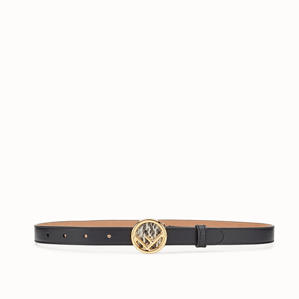 FENDI F IS FENDI BELT - Black leather belt - view 1 small thumbnail