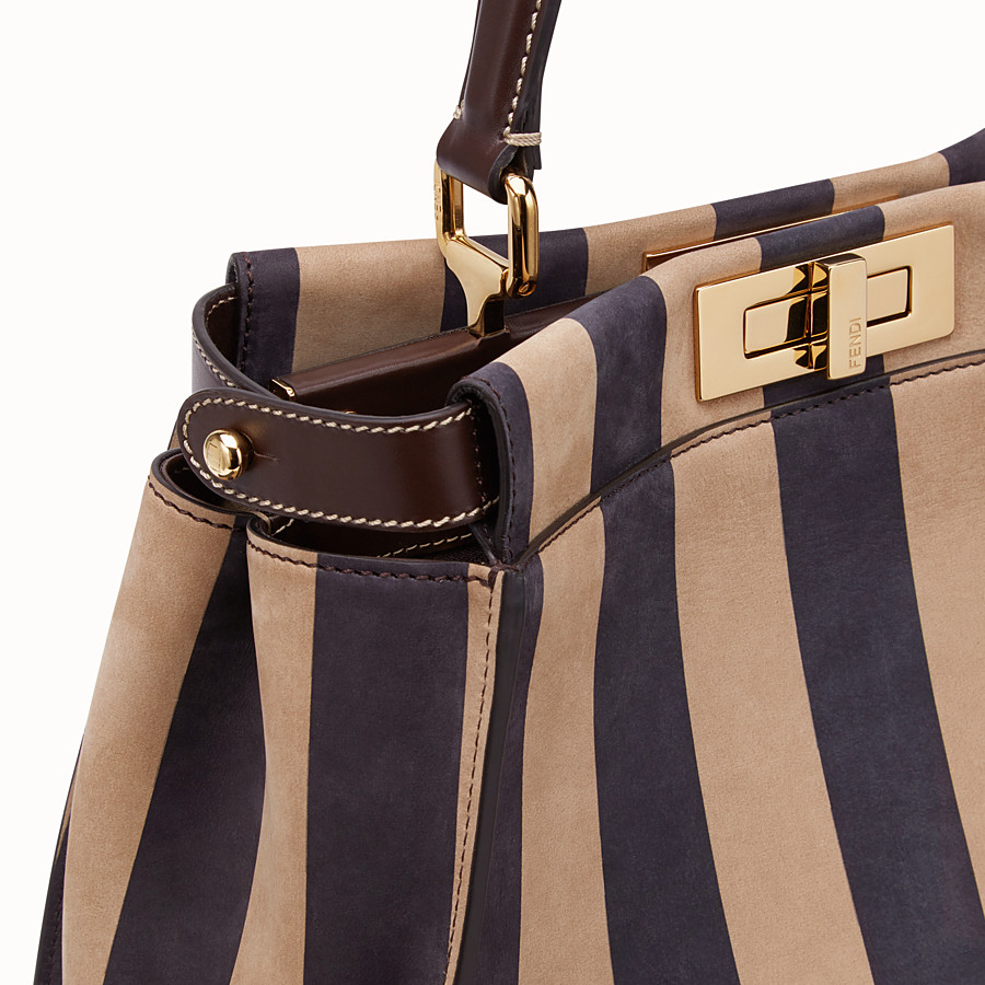 FENDI PEEKABOO ICONIC MEDIUM - Brown nubuck leather bag - view 6 detail