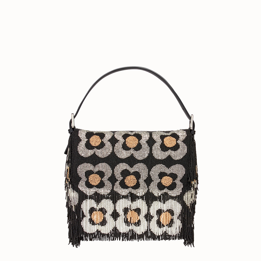 FENDI BAGUETTE - Shoulder bag with beads and fringing - view 3 detail