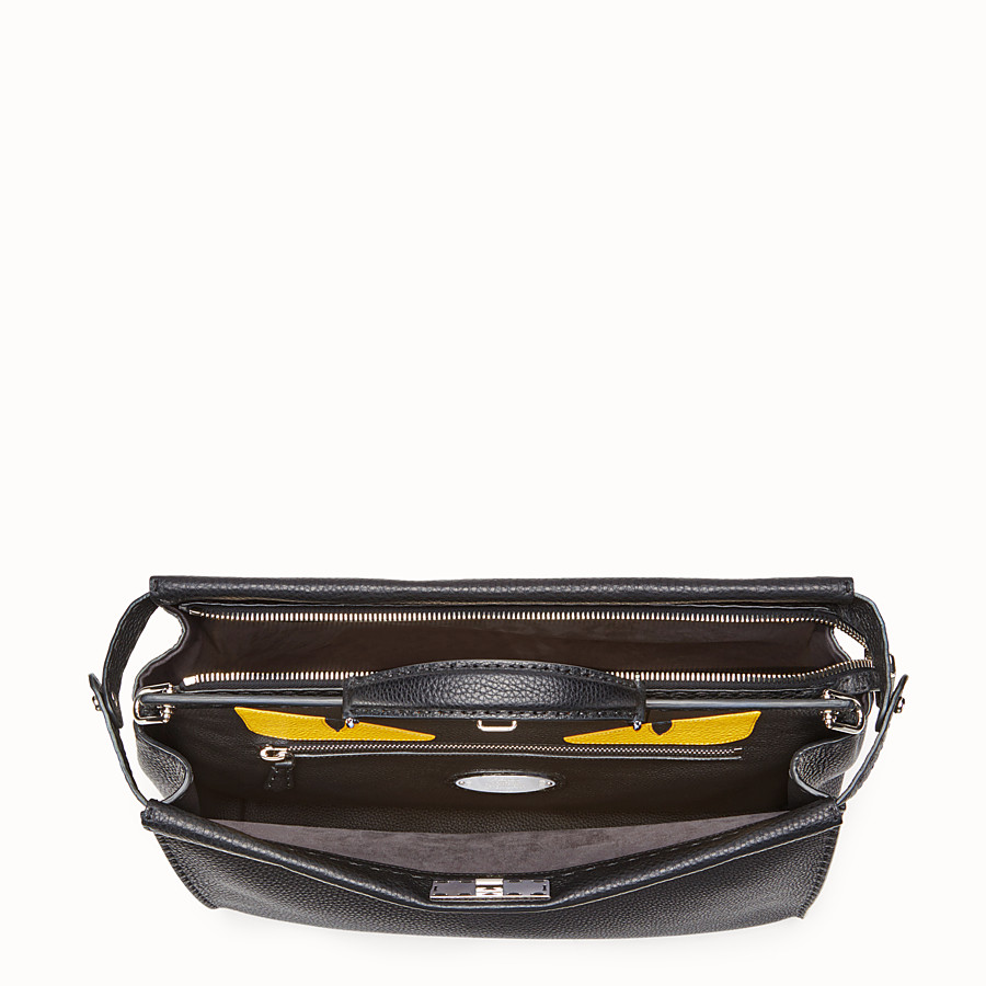FENDI PEEKABOO MEDIUM - Black leather backpack - view 4 detail