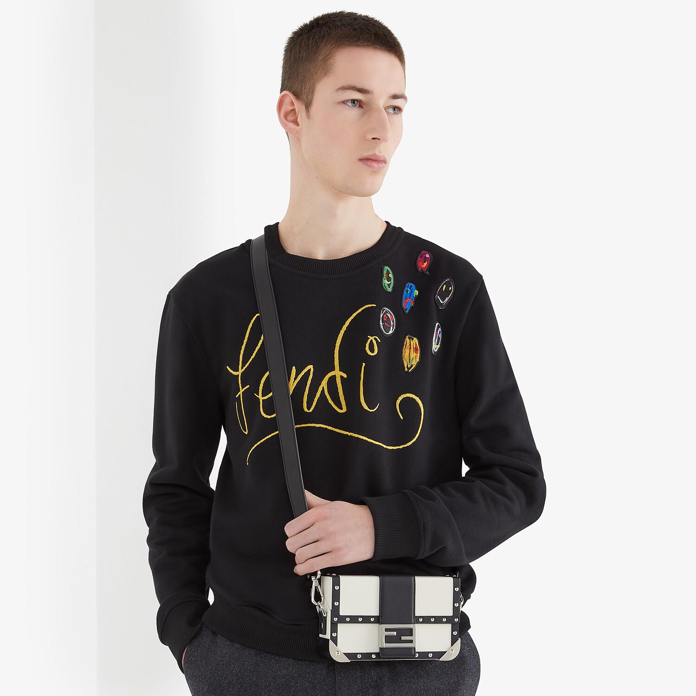 FENDI SWEATSHIRT - Black jersey sweatshirt - view 4 detail