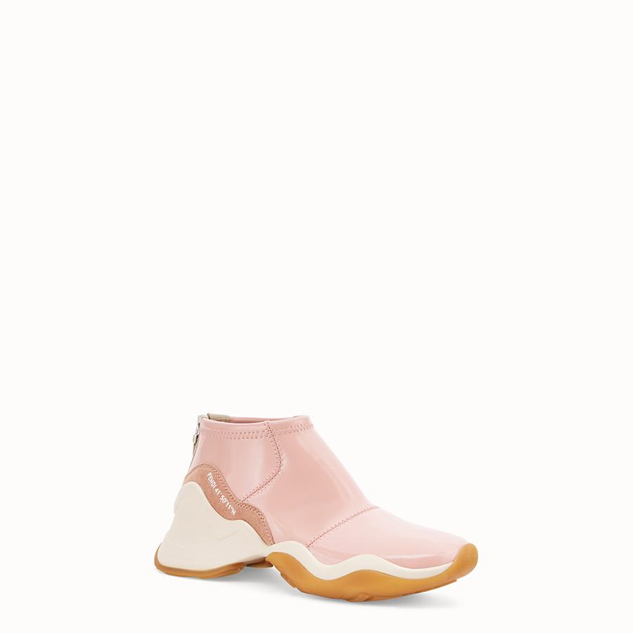 FENDI SNEAKERS - Glossy pink neoprene sneakers - view 2 detail