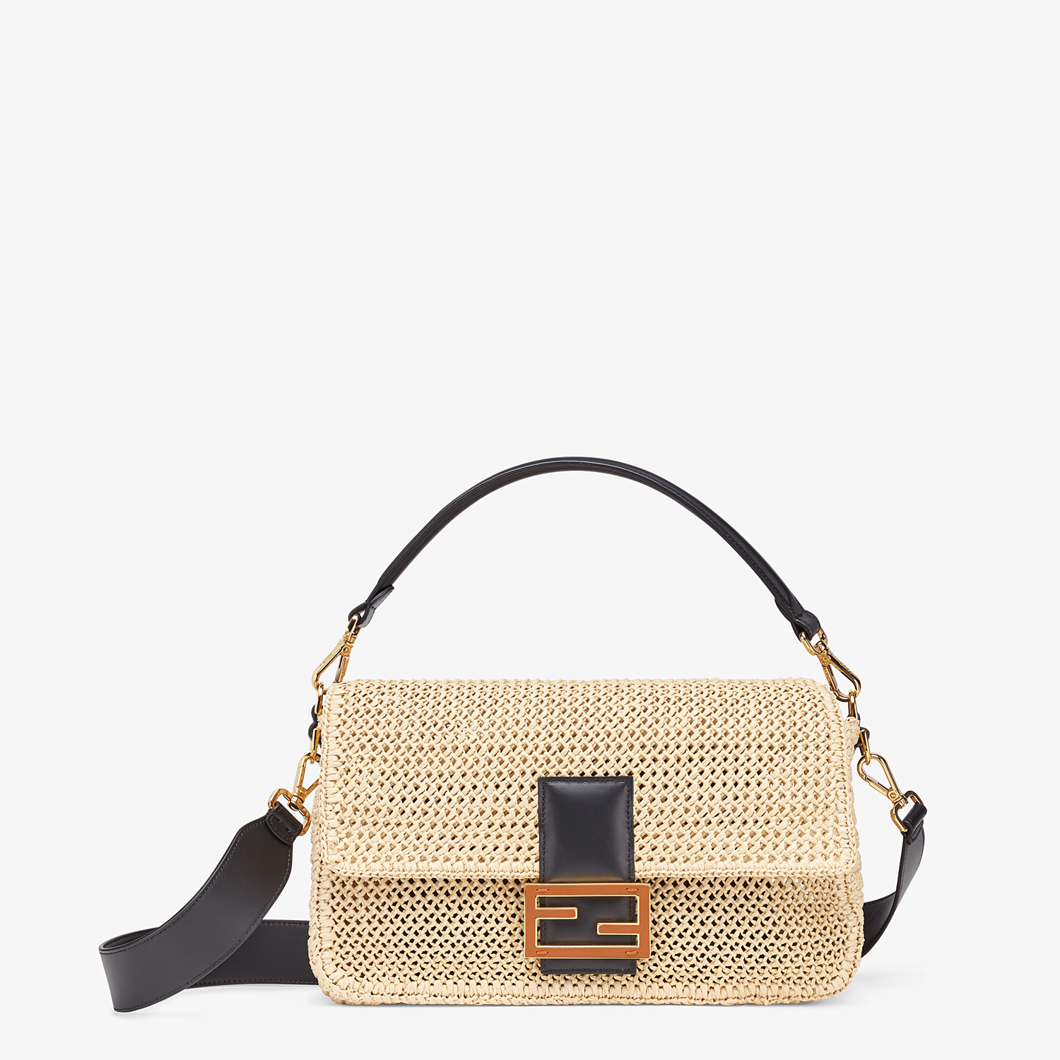 FENDI BAGUETTE LARGE - Natural straw bag - view 1 detail