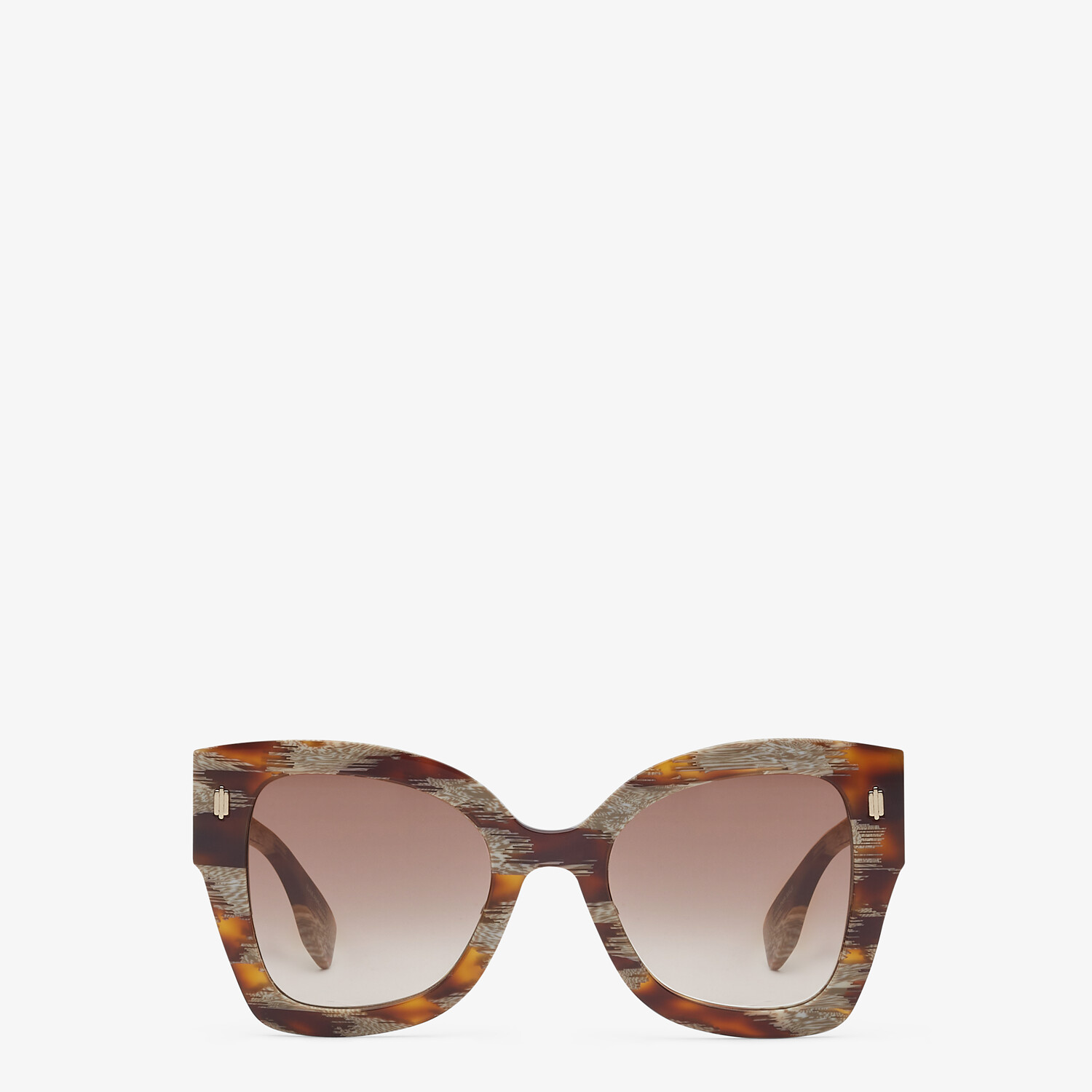FENDI FENDI ROMA - Sunglasses in Havana-color animalier acetate - view 1 detail