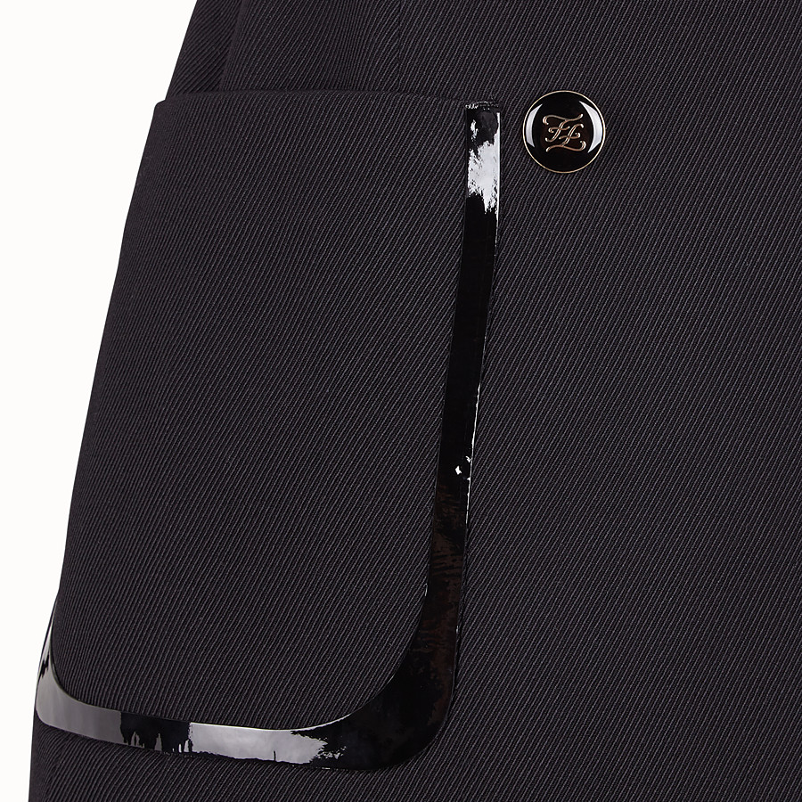 FENDI ROCK - Rock aus Gabardine in Schwarz - view 3 detail