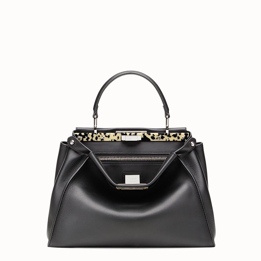 FENDI PEEKABOO REGULAR - Black leather handbag - view 1 detail