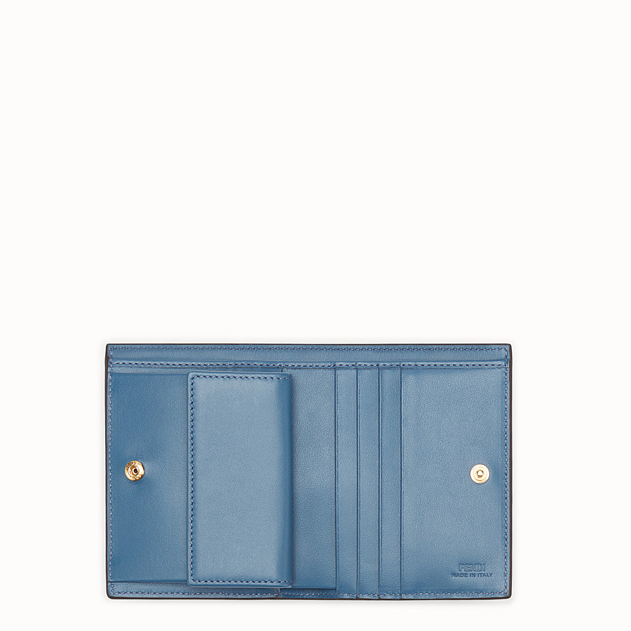 FENDI BIFOLD - Beige leather compact wallet - view 4 detail