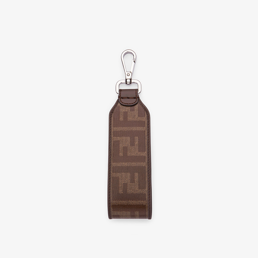 FENDI KEY RING - Brown fabric lanyard - view 2 detail