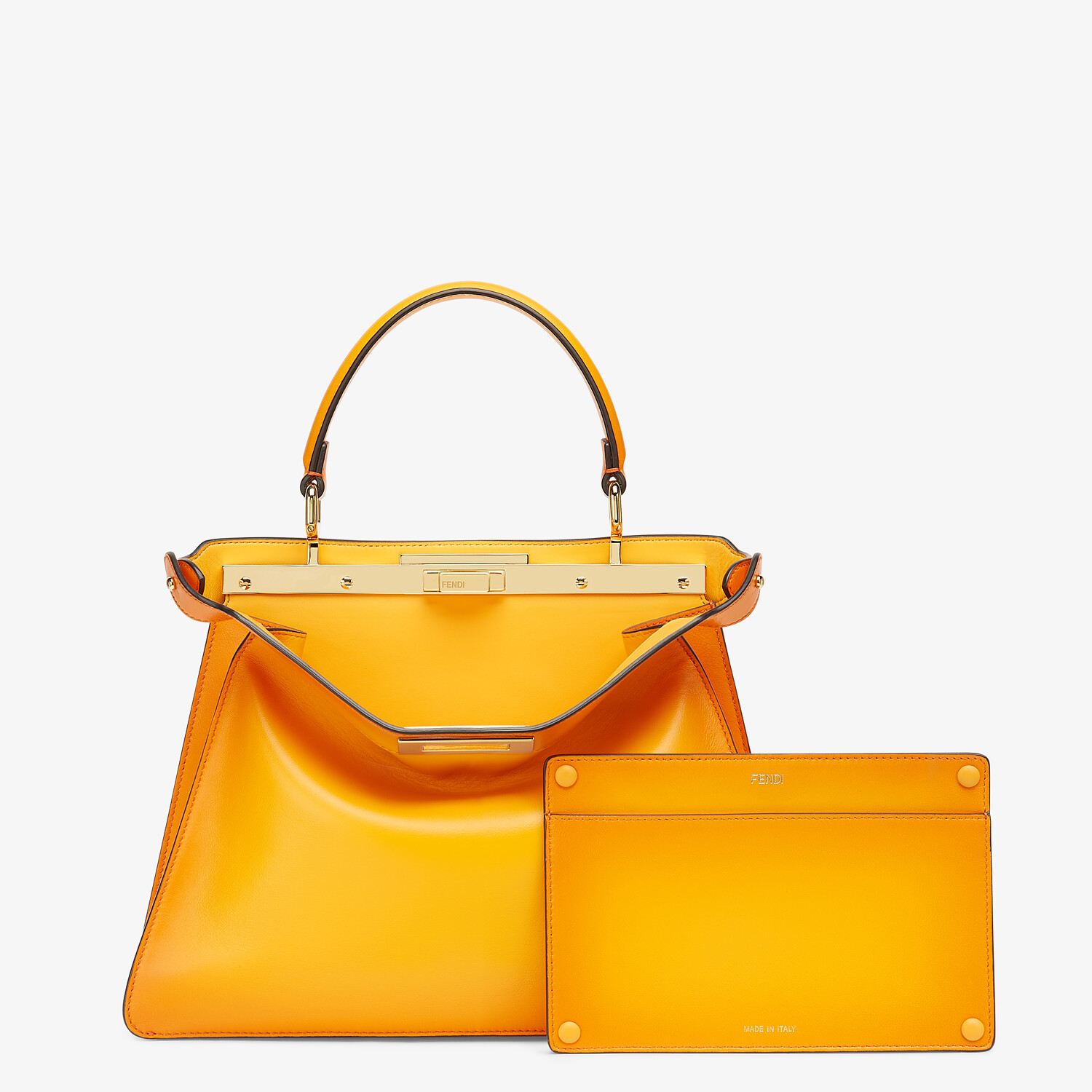 FENDI PEEKABOO ISEEU MEDIUM - Orange leather bag - view 3 detail