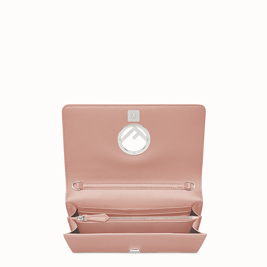 FENDI WALLET ON CHAIN - Mini-bag in pink leather - view 4 detail